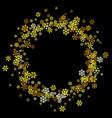 frame or border random scatter snowflakes vector image vector image