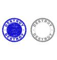 grunge destroy scratched stamp seals vector image vector image