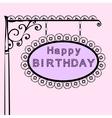 happy birthday retro vintage street sign vector image
