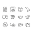 icons shop set vector image vector image