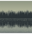 landscape with fir trees and water vector image vector image