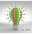 Lightbulb Idea concept 3d vector image vector image