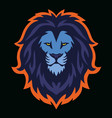 lion head esport logo mascot design vector image