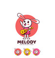 logo melody simple mascot style vector image