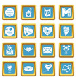 mother day icons set sapphirine square vector image vector image