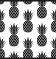 pineapple seamless pattern black tropical fruits vector image