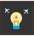 Planes and light bulb flat icons vector image vector image