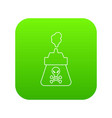 poison icon green vector image vector image