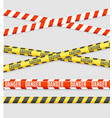 realistic 3d detailed striped line tape set vector image