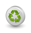 Recycle symbol icon vector image
