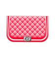 red beautiful clutch vector image