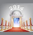 red carpet new year door 2014 vector image vector image