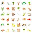 sand animal icons set cartoon style vector image vector image