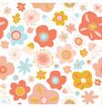scandinavian flowers seamless pattern vector image vector image