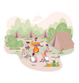 scout camp at summer isolated concept vector image vector image