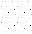 seamless polka dot pink hearts pattern vector image