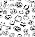 seamless pumpkin pattern halloween vector image
