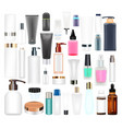 set a real cosmetic tube and bottle vector image