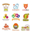 Set of children goods logos vector image vector image