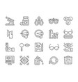 set optometry line icons vitamins optical vector image vector image