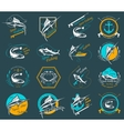 Set Spearfishing Logos and Badges vector image vector image