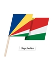 Seychelles Ribbon Waving Flag Isolated on White vector image vector image