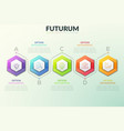 six separate hexagonal elements placed in vector image vector image