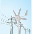 small windmill turbine vector image vector image