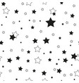 star seamless pattern cute kids star seamless vector image vector image