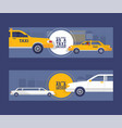 taxi driver concept set of banners vector image vector image