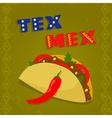tex mex taco vector image vector image