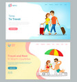 time to travel people with baggage walking web vector image vector image