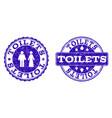 toilets grunge stamp seals vector image vector image