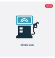two color petrol fuel icon from transport concept vector image vector image