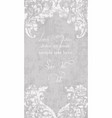 vintage lace ornamented card victorian vector image vector image