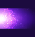 violet abstract 3d big data visualization with vector image vector image
