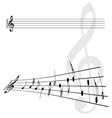 Violin key and notes vector image vector image
