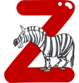 Z for zebra vector image