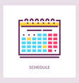 schedule icon planning and timemanagment vector image