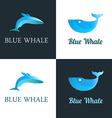 Blue Whale Logo vector image