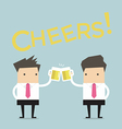 Business man to toast with beer vector image