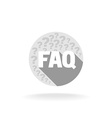 FAQ sign Flat colors with long shadow vector image