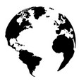 silhouette of a globe vector image