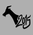2015 goat symbol vector image vector image