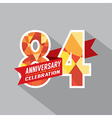 84th Years Anniversary Celebration Design vector image