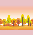 a countryside in autumn vector image