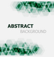 abstract dark green hexagon overlapping background vector image vector image
