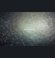 abstract dark polygonal space background with vector image vector image