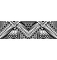 abstract polynesian art tattoo border vector image vector image