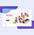 airport check-in landing page vector image